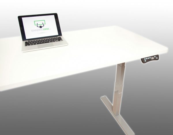 Standing desk with digital control panel