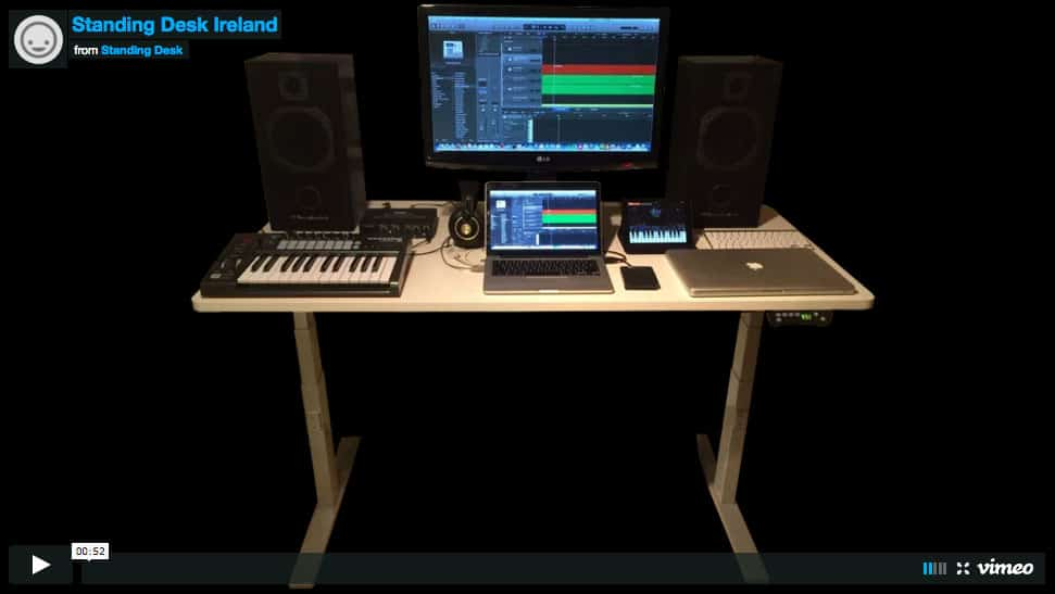 Video of standing desk on Vimeo