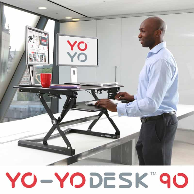 Yo Yo Desk Workstation 90 Sit Stand Desk Standingdesk Ie